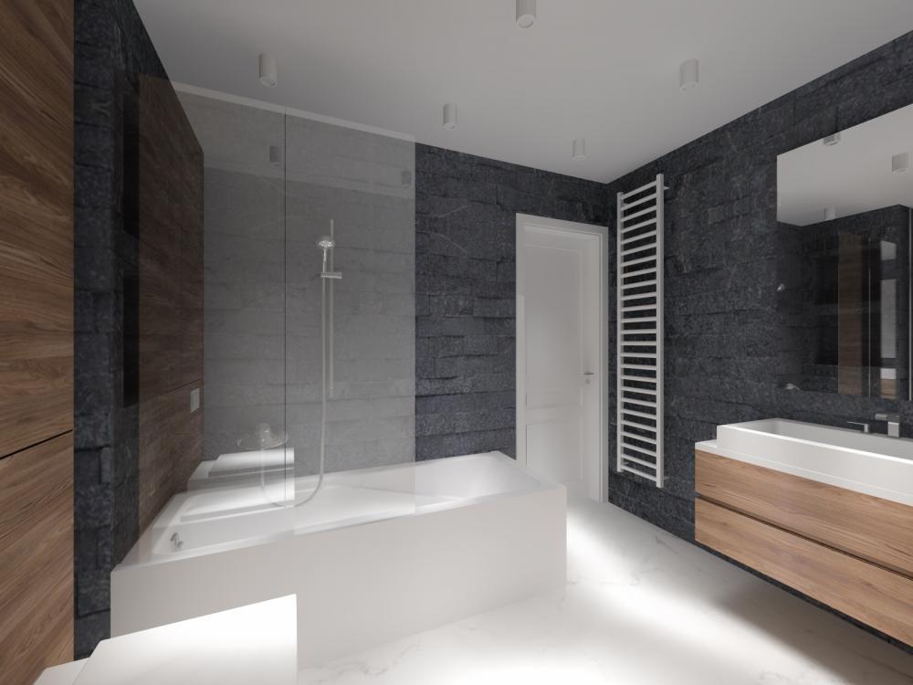 łazienka W Kamieniu Projekty Wnętrz Reforma Domu